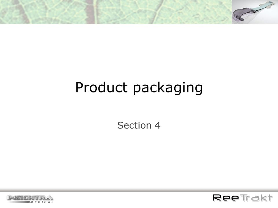Product packaging Section 4