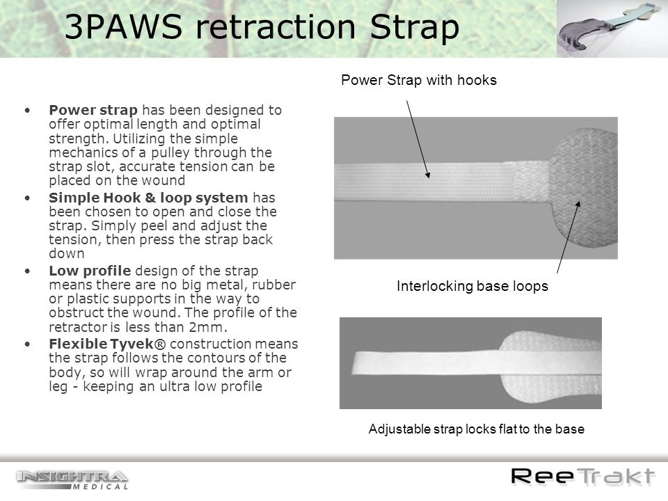 3PAWS retraction Strap Power Strap with hooks Interlocking base loops