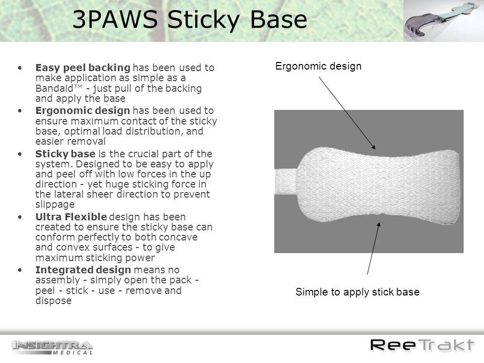 3PAWS Sticky Base Ergonomic design Simple to apply stick base