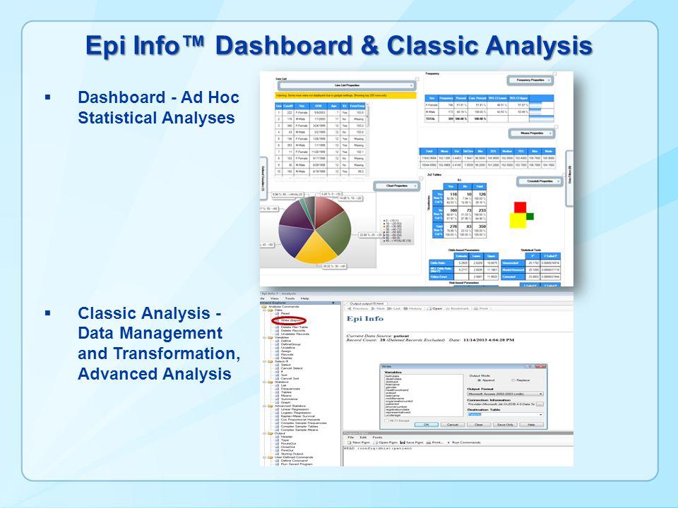 Epi Info™ Dashboard & Classic Analysis