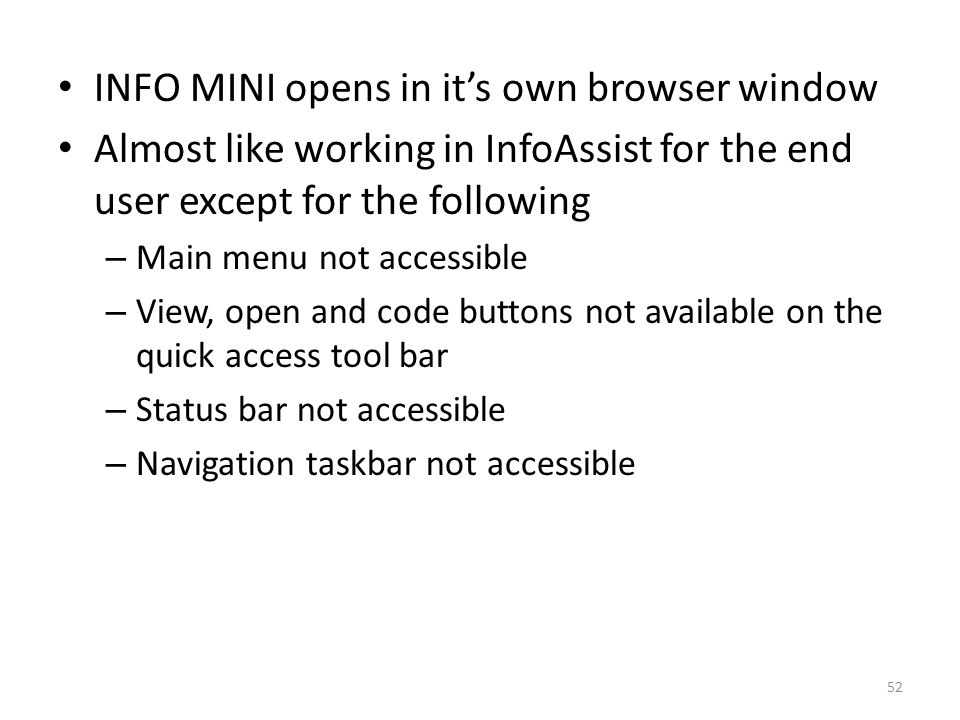 INFO MINI opens in it's own browser window