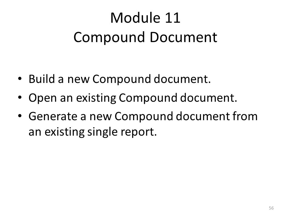Module 11 Compound Document
