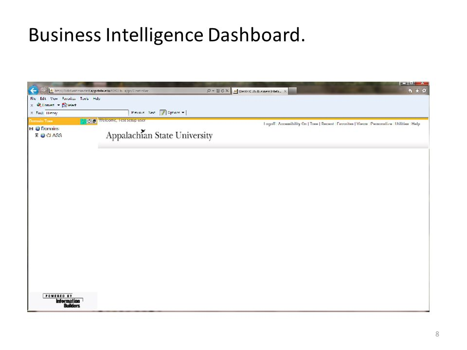 Business Intelligence Dashboard.