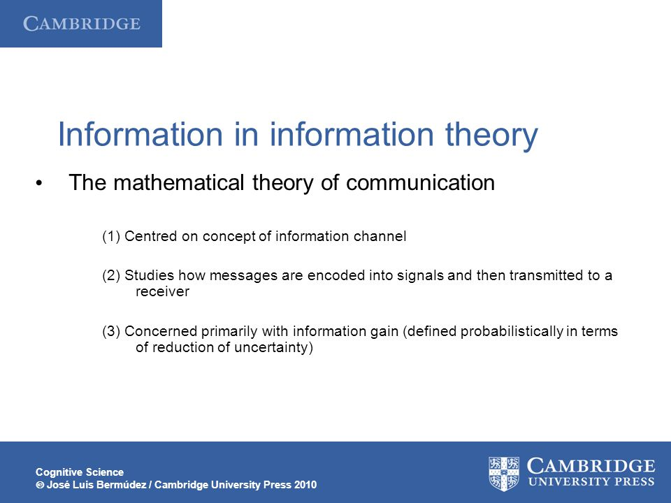 Information in information theory