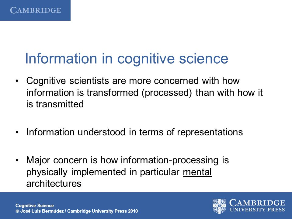 Information in cognitive science