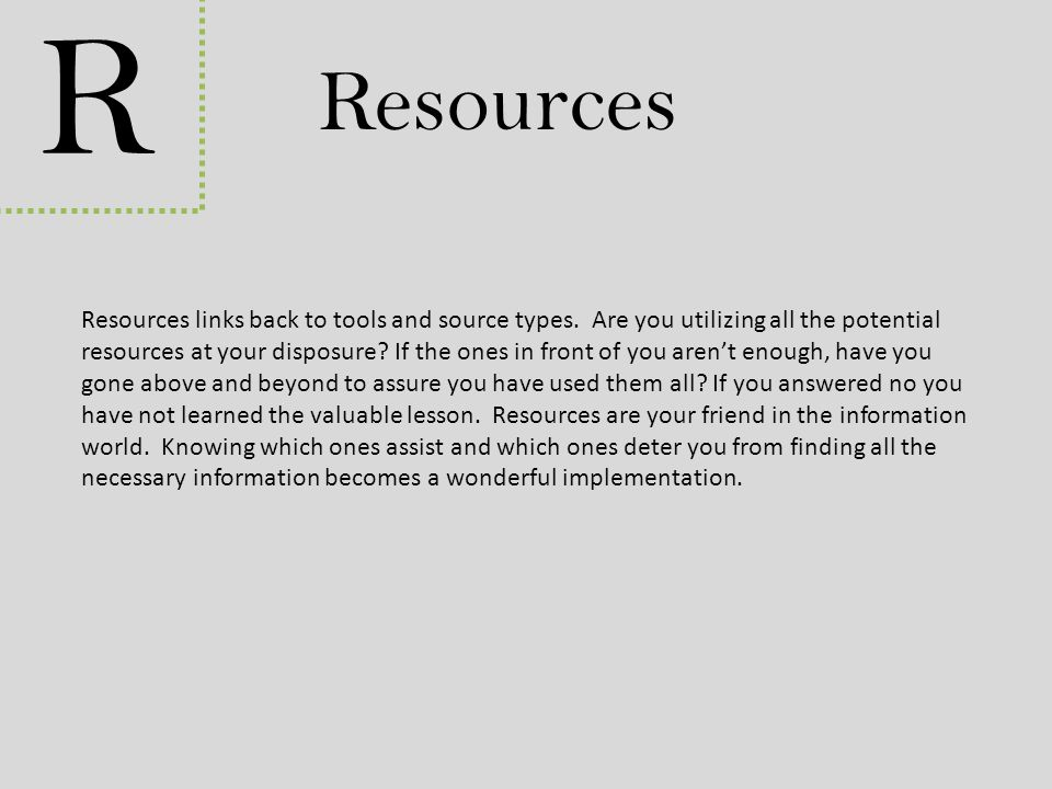 R Resources.