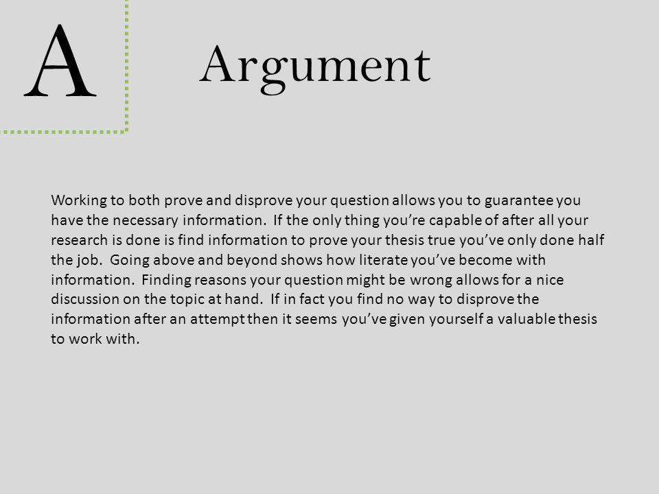 A Argument.
