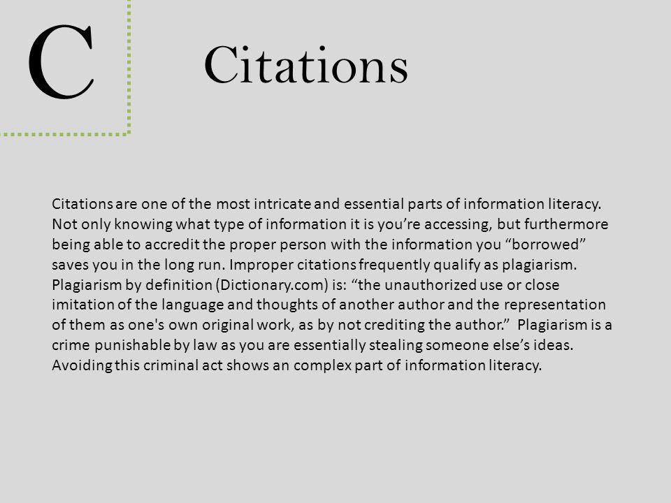 C Citations.