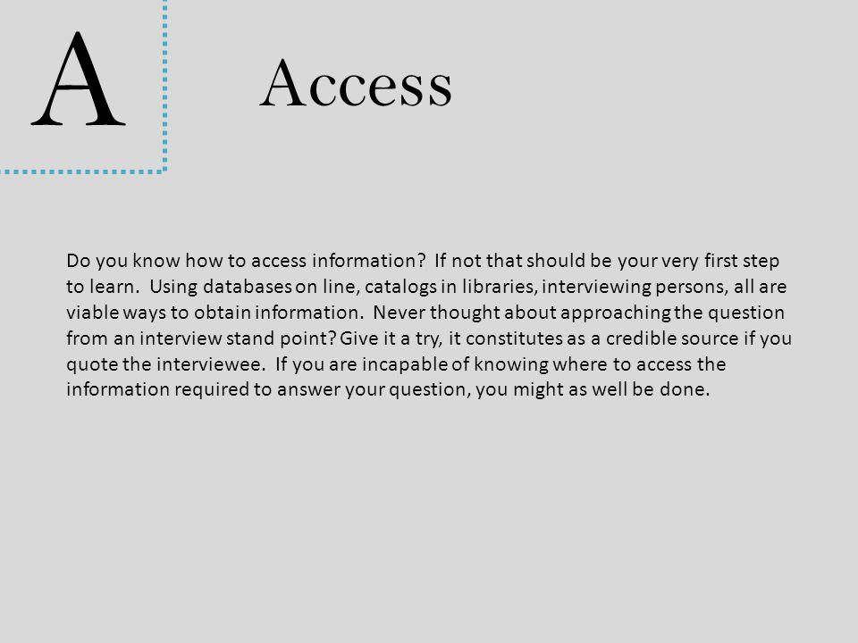 A Access.