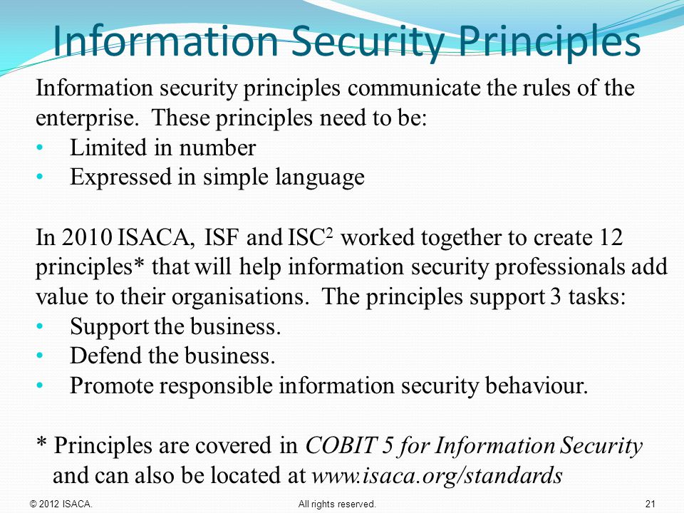 Information Security Principles