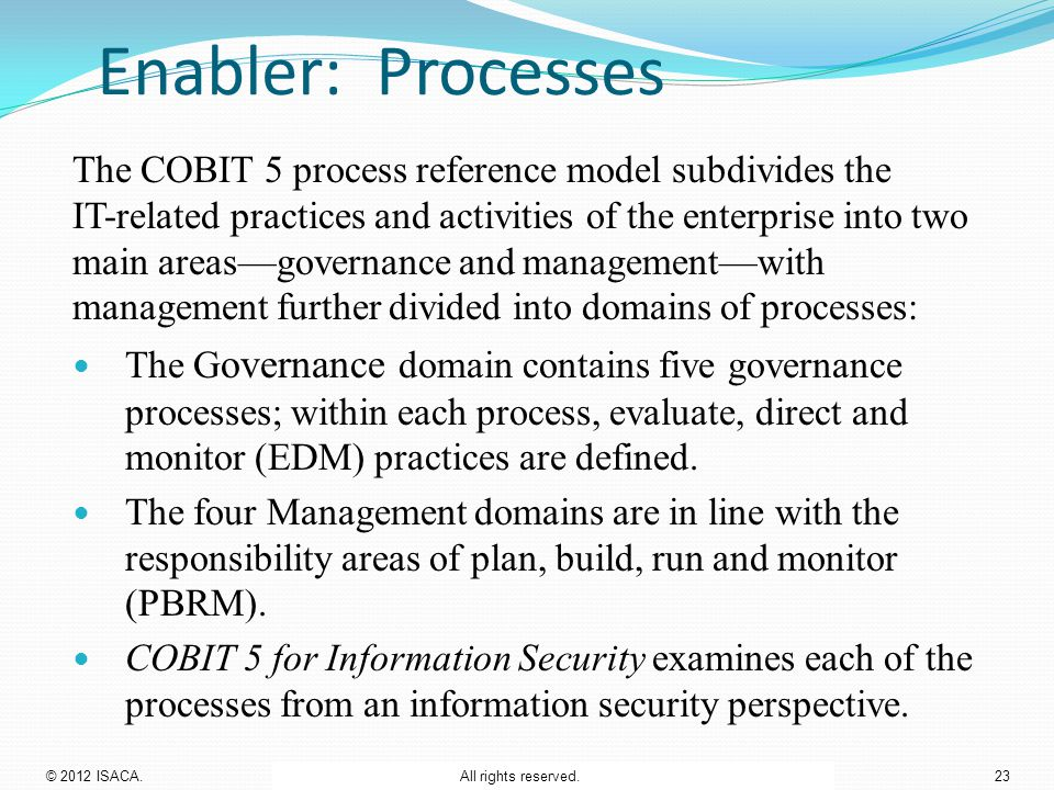 Enabler: Processes
