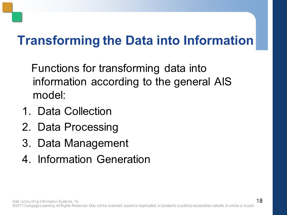 Transforming the Data into Information