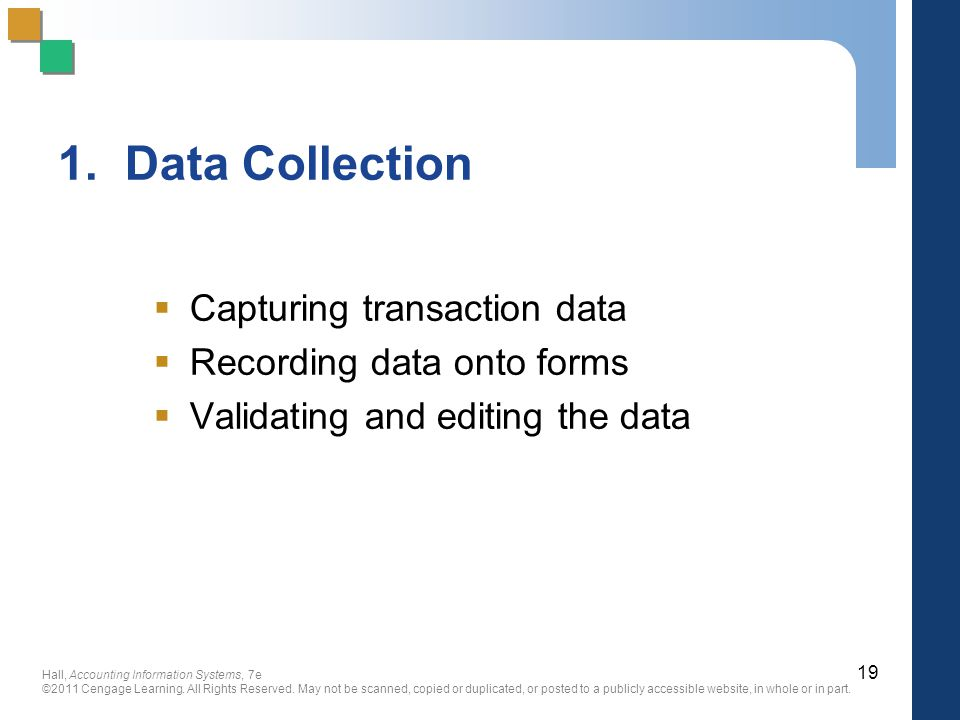 1. Data Collection Capturing transaction data