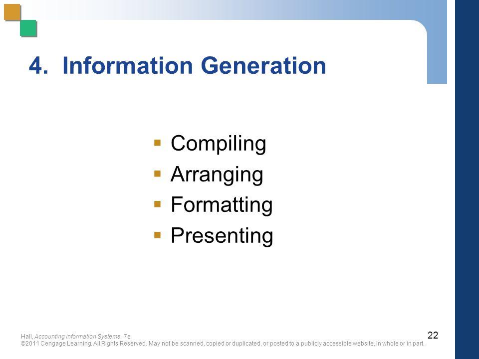 4. Information Generation