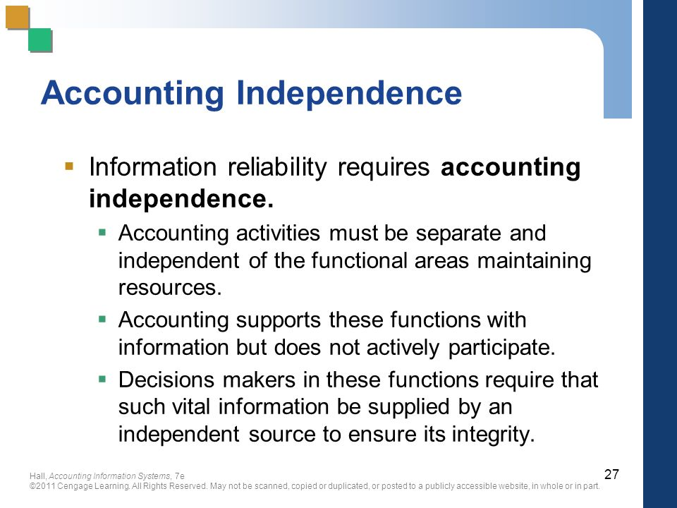 Accounting Independence