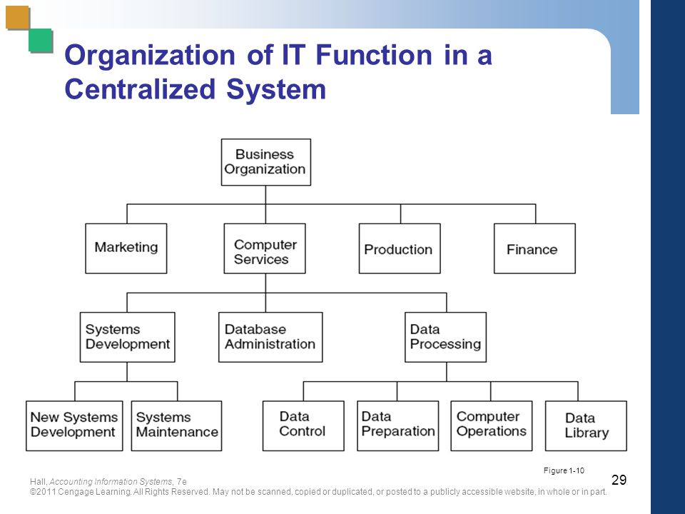 Organization of IT Function in a Centralized System