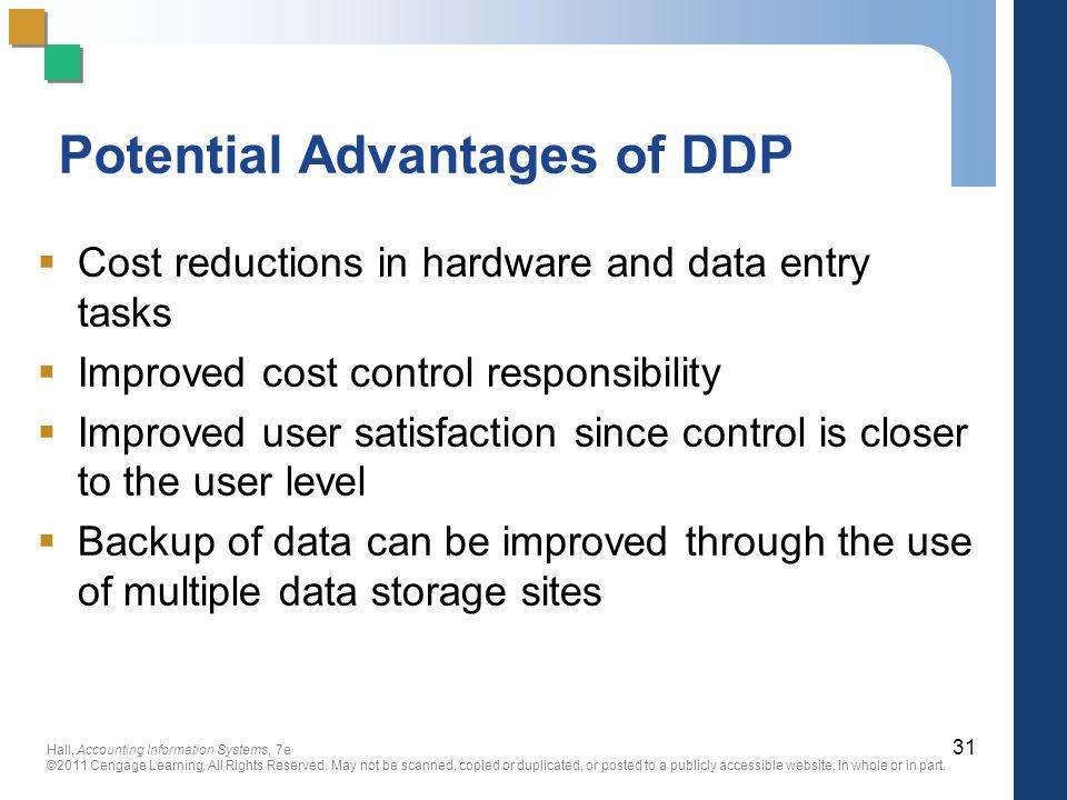 Potential Advantages of DDP