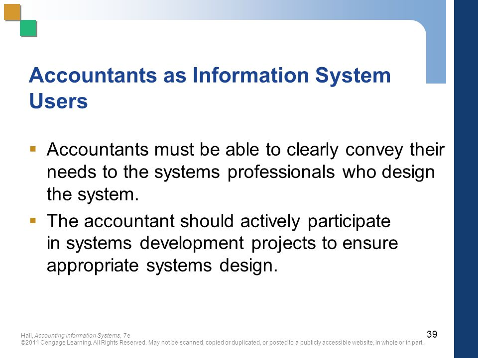 Accountants as Information System Users