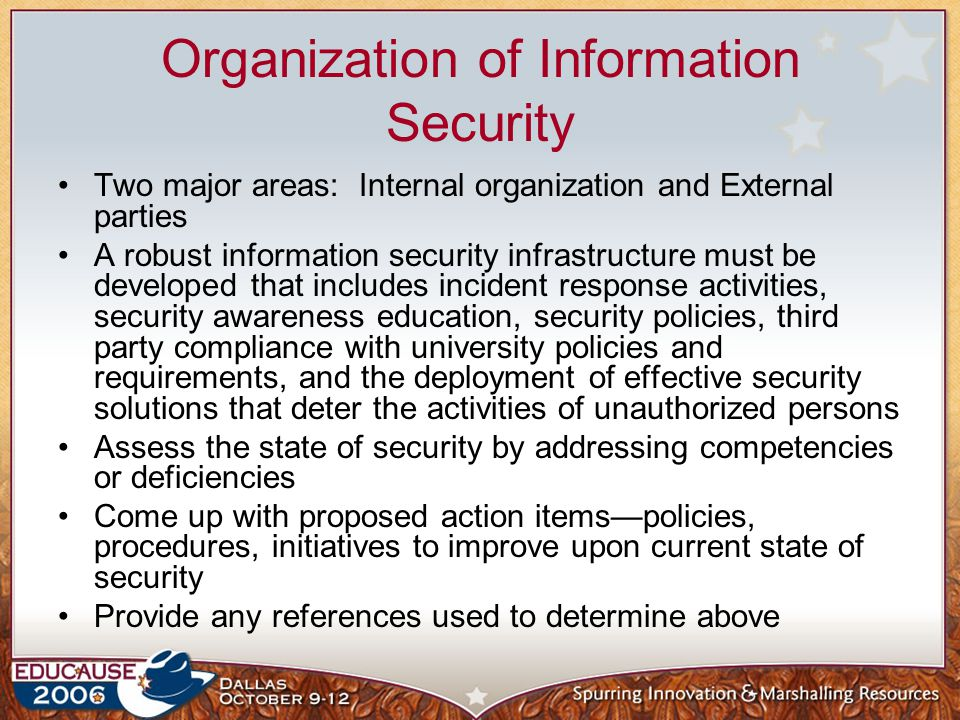 Organization of Information Security