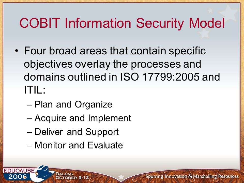 COBIT Information Security Model