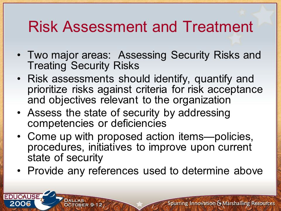Risk Assessment and Treatment