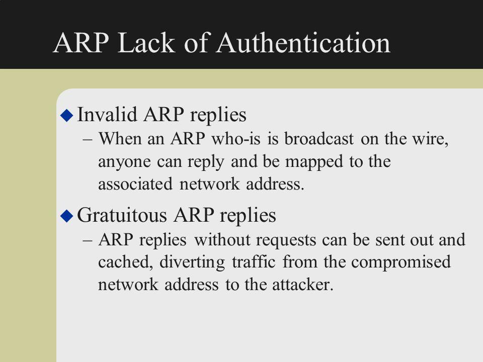 ARP Lack of Authentication