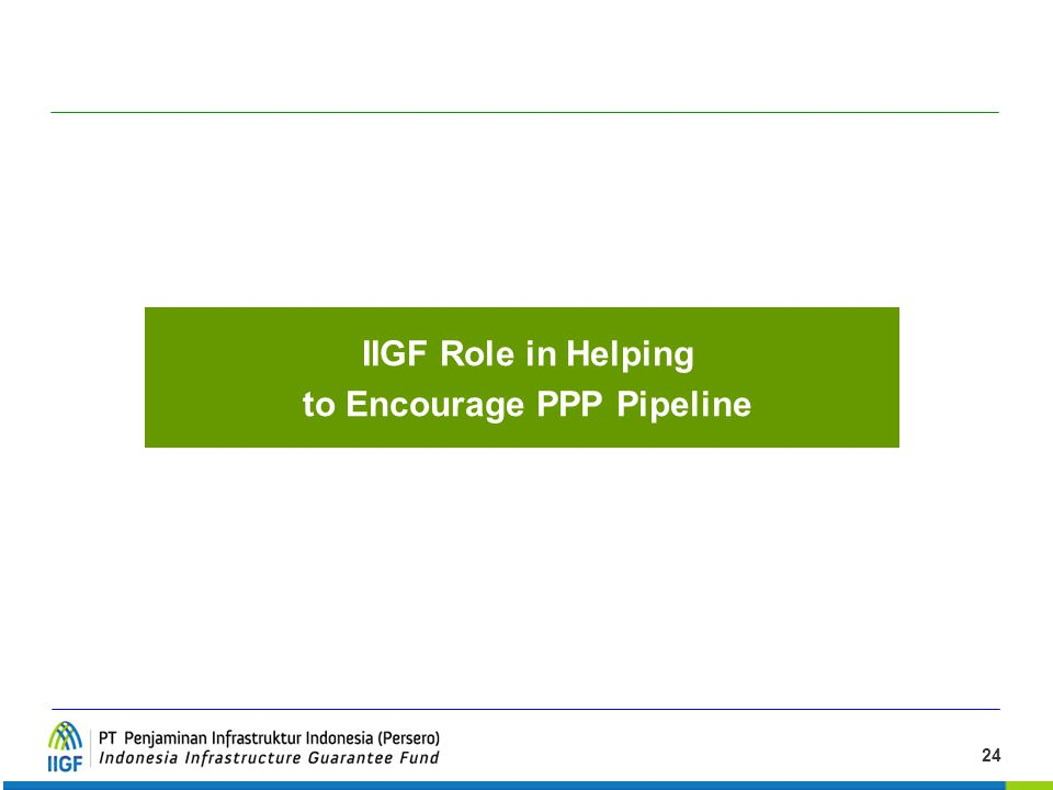 to Encourage PPP Pipeline