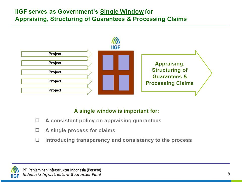 IIGF serves as Government's Single Window for Appraising, Structuring of Guarantees & Processing Claims