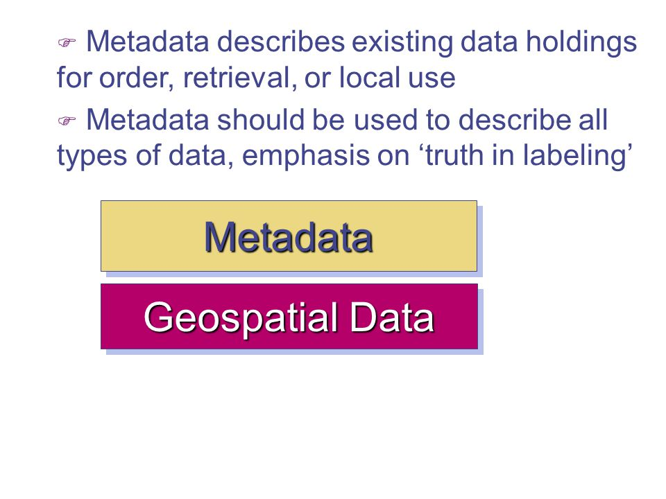 Metadata Geospatial Data