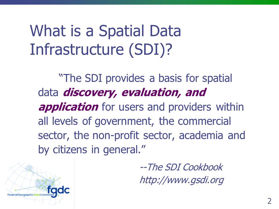 What is a Spatial Data Infrastructure (SDI)