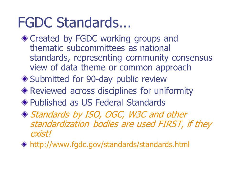 FGDC Standards...