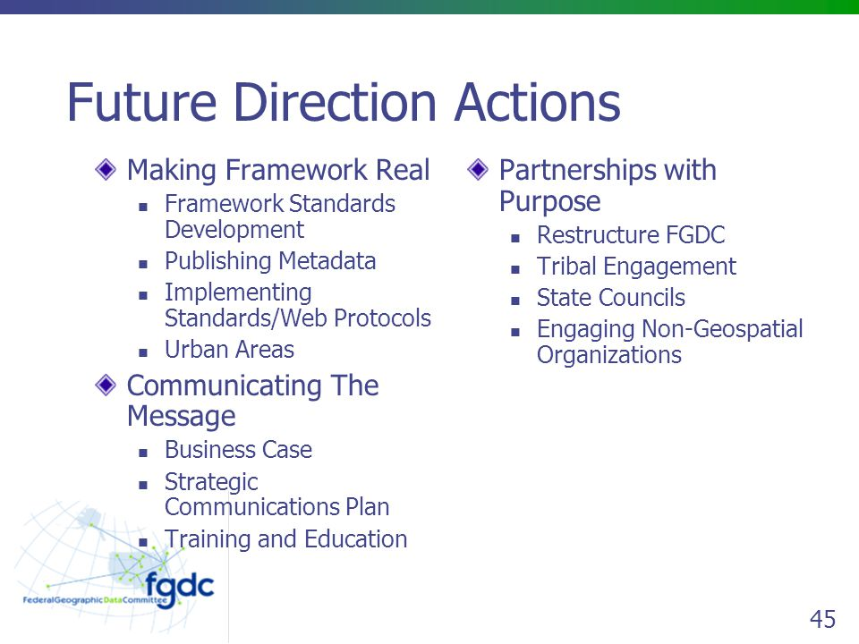 Future Direction Actions