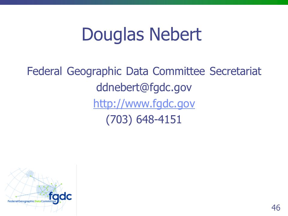 Federal Geographic Data Committee Secretariat