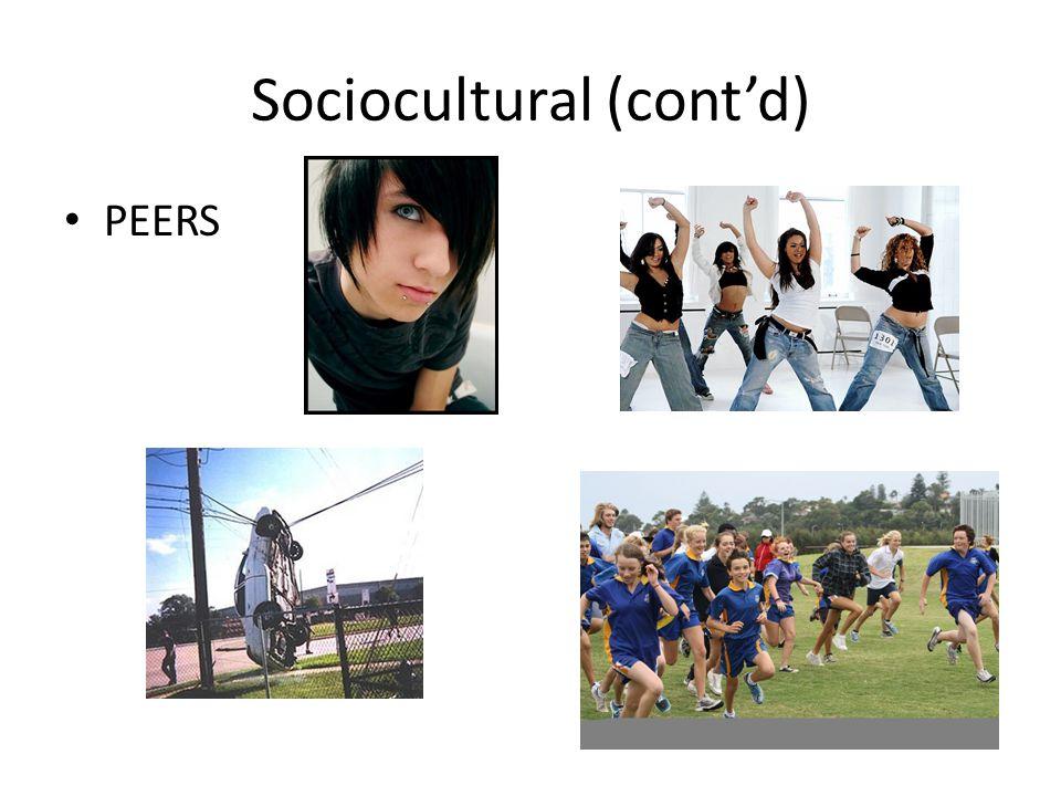 Sociocultural (cont'd)