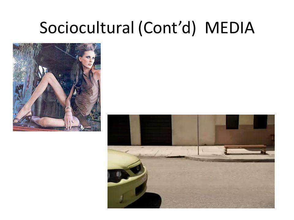 Sociocultural (Cont'd) MEDIA