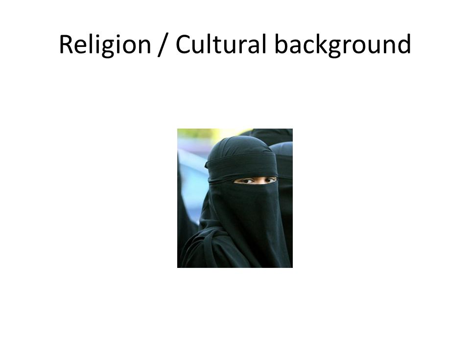 Religion / Cultural background