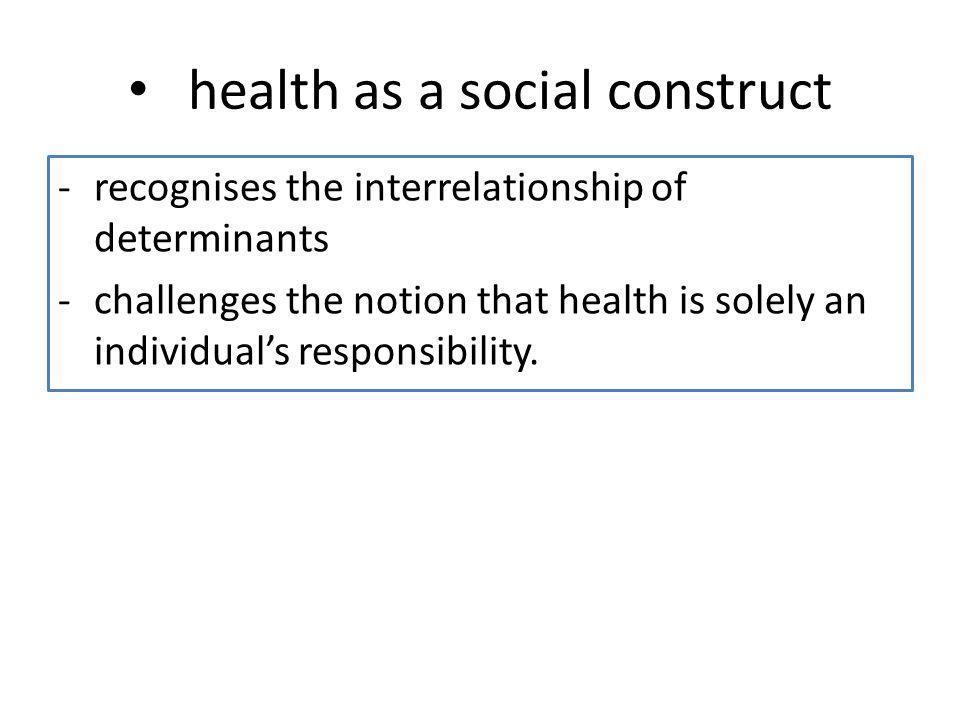 health as a social construct