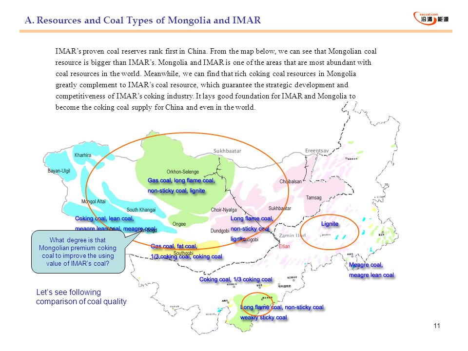A. Resources and Coal Types of Mongolia and IMAR