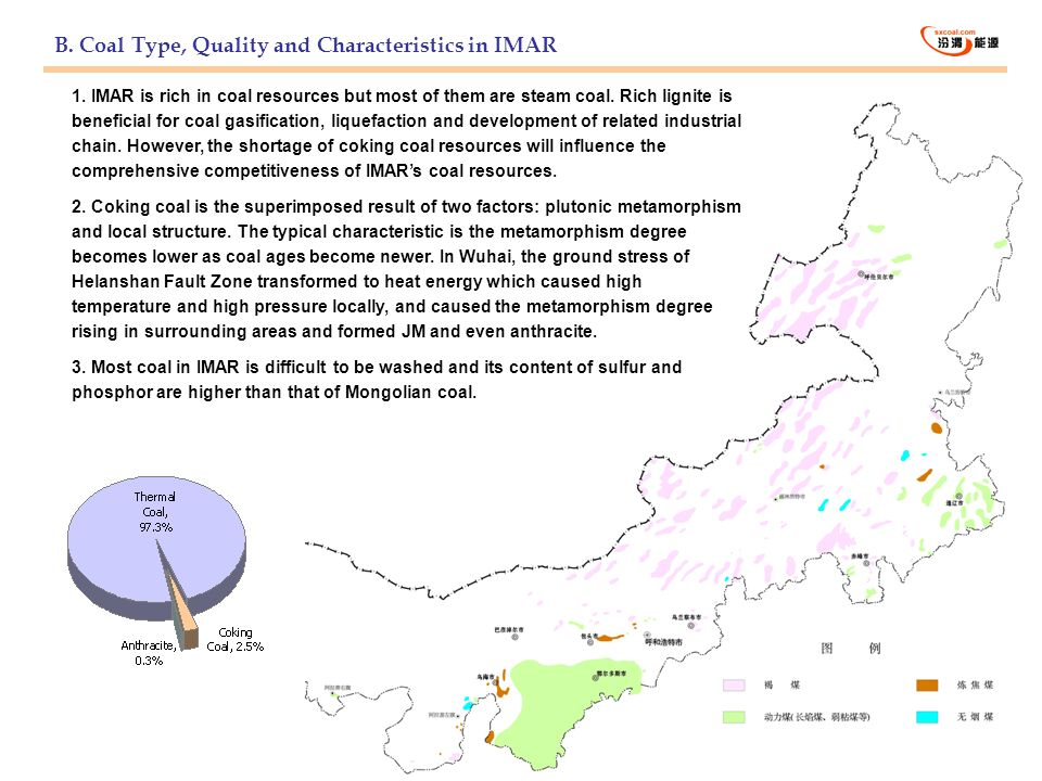 B. Coal Type, Quality and Characteristics in IMAR