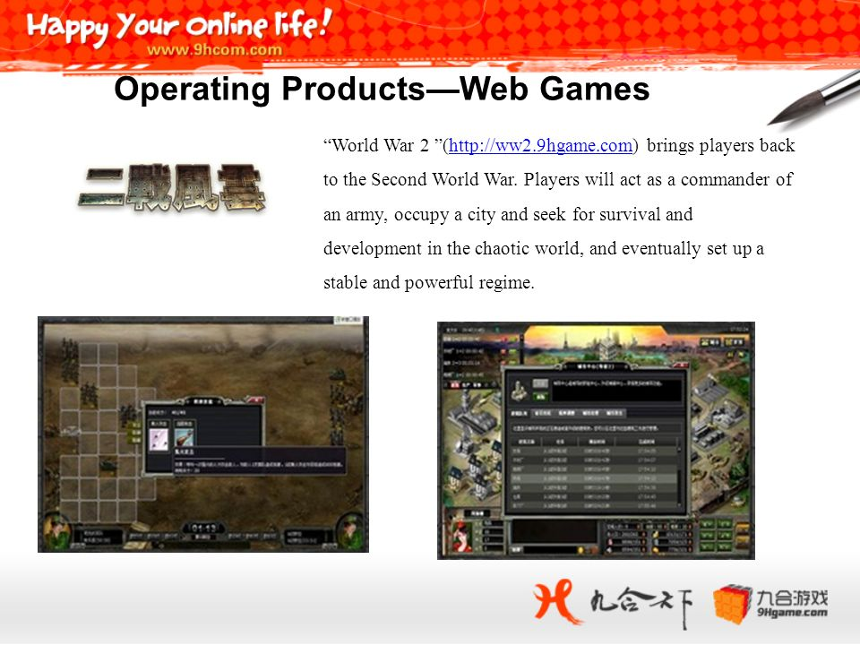 Operating Products—Web Games