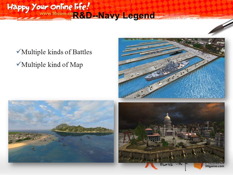 R&D--Navy Legend Multiple kinds of Battles Multiple kind of Map 25