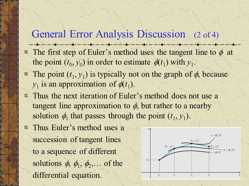 General Error Analysis Discussion (2 of 4)