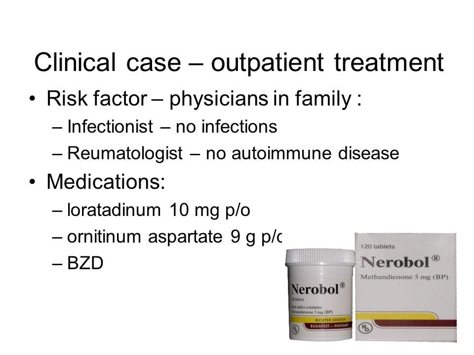 Clinical case – outpatient treatment
