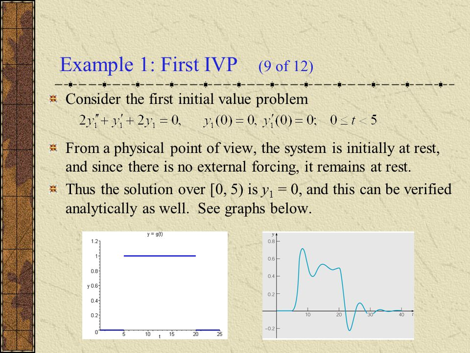 Example 1: First IVP (9 of 12)