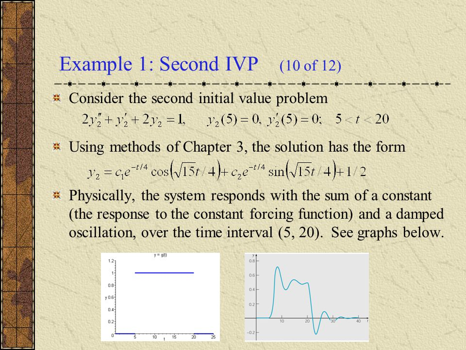 Example 1: Second IVP (10 of 12)