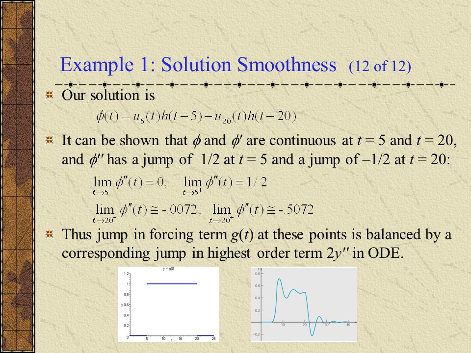 Example 1: Solution Smoothness (12 of 12)