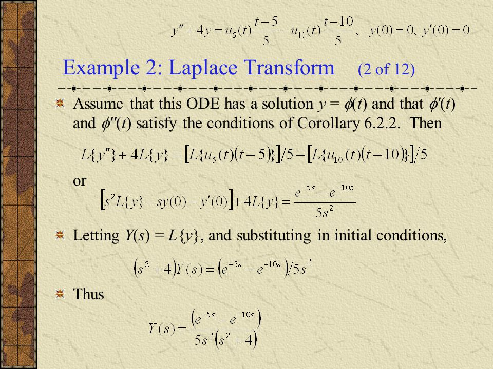 Example 2: Laplace Transform (2 of 12)