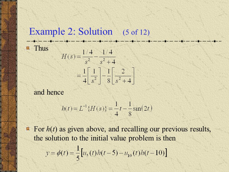 Example 2: Solution (5 of 12)