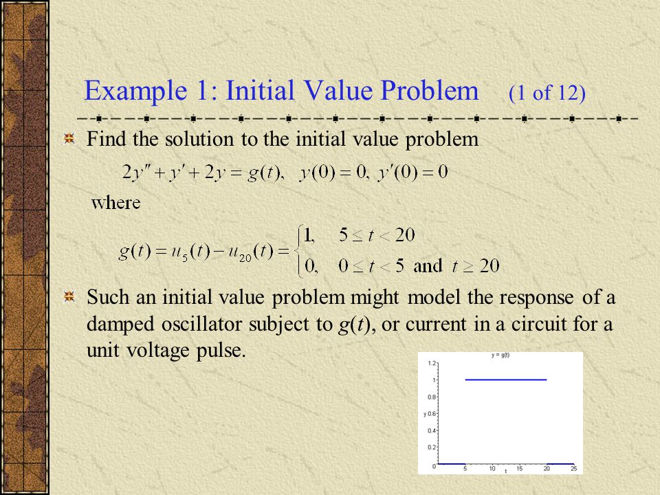 Example 1: Initial Value Problem (1 of 12)