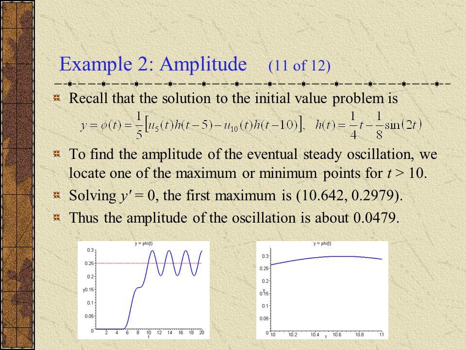 Example 2: Amplitude (11 of 12)